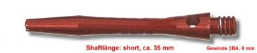 Shaft Alu short, ca. 35 mm, rot
